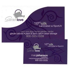 Custom corporate impressions business cards silk laminated 16 point business card with full color on both sides reheart Gallery