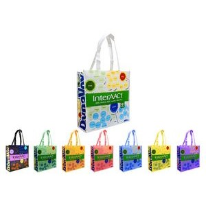 "Reusable Shopping Tote Bag, 16""X12""X6"", Full Color Laminated"