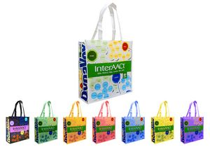 Reusable Shopping Tote Bag, 16X12X6, Full Color Laminated