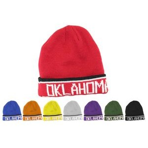 Beanie Cap with Cuff and Logo