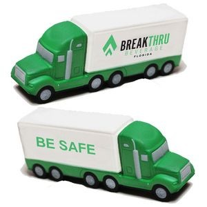 Green and White Semi-Truck Stress Reliever