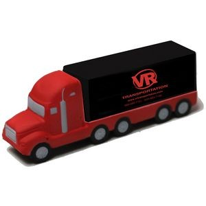 Red and Black Semi-Truck Stress Reliever