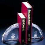 Custom Faceted Crystal Bookends