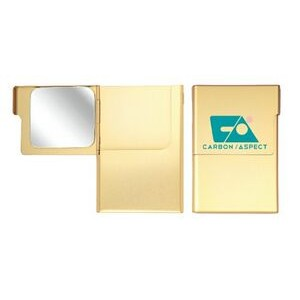 Metal Business Card Case with Mirror
