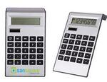 Custom Silver Plastic Solar Calculator