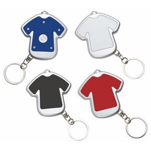 T Shirt shaped Keychain with Flashlight