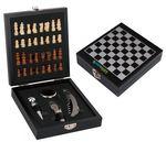 Custom Chess Set Wood w/ 4 PC Wine Opener Set