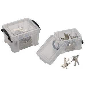 Mini storage box with 8 man shaped paper clip