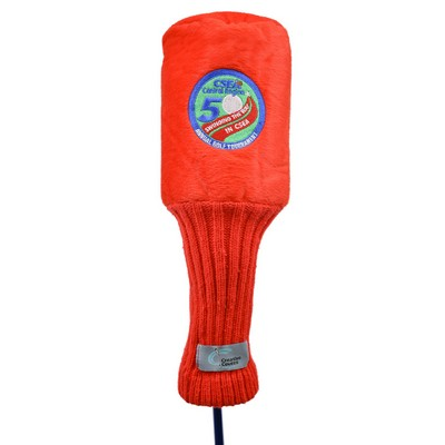 Plush Golf Head Covers - Red