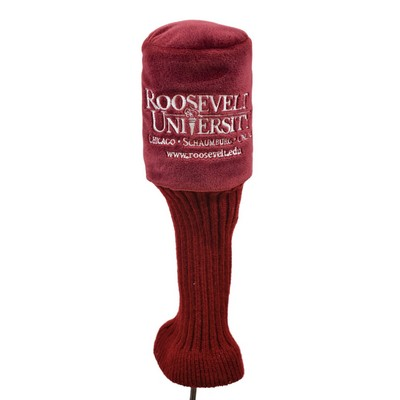 Plush Golf Head Covers - Maroon