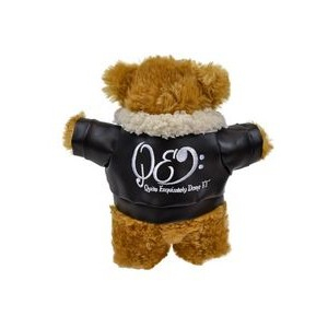 "8.5"" Standing Bailee Bear w/Embroidered Pilot Jacket"