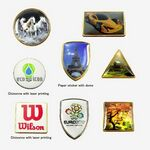 Custom Die Struck with Domed Printed Sticker (1/2