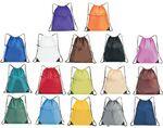 Custom Drawstring Bag w/ Large Zippered Front Pocket