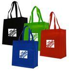 Custom Solid Color Non Woven Polypropylene Vertical Shopping Tote Bag
