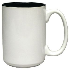 Custom 15 Oz. Two-Tone El Grande Mug (White out/Colors in)