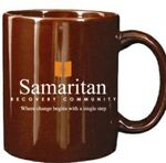Custom 11 Oz. Quality C-Handle Ceramic Mug