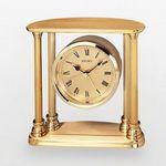 Custom Seiko Gold Tone Square Table Alarm Clock