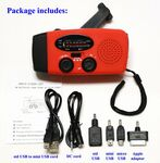Custom NOAA Hand Crank / Solar /Battery Emergency Weather Radio & Phone Charger