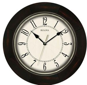 promotional product bulova espresso wall clock w antique pewter