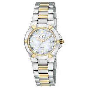 Citizen Women's Eco-Drive White Mother-of-Pearl Dial Watch