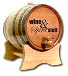 Custom Whiskey Barrel w/Black Steel Hoops (5 Liter)