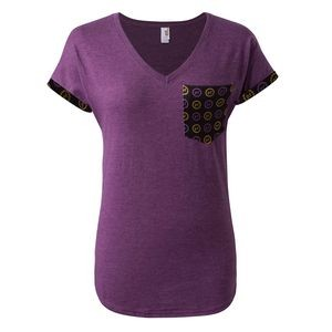 Ladies Premium Triblend V-Neck with Customizable Pocket