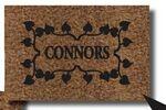 Custom Cocoa Brush Rug w/ 1 Color Flocked Imprint - 2'x3'