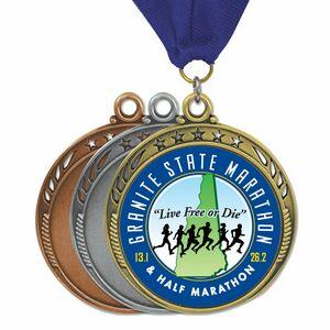 Full color 5 Star Galaxy Medal