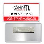Custom Aluminum Name Badge with Acrylic Snap-on Dome