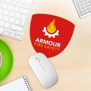 Badge Shaped Mouse Pad