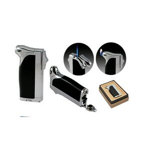 The Duplex Dual Flame Lighter in Gift Box w/ Bullet Cigar Cutter