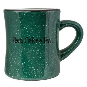 10 Oz. Vitrified Cancun Diner Mug (Green campfire)