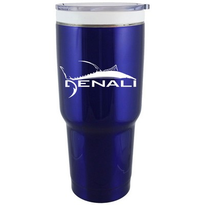 CeramiSteel BOSS 32 Oz. Blue Stainless double wall vacuum insulated travel mug with ceramic coating
