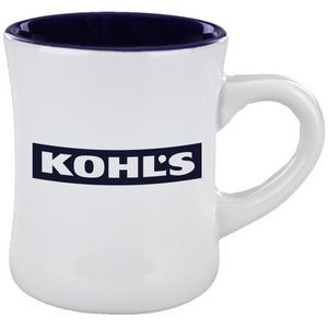 11 Oz. Diner Mug Cobalt in white out