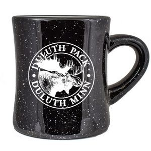 10 Oz. Vitrified Cancun Diner Mug (Black campfire)