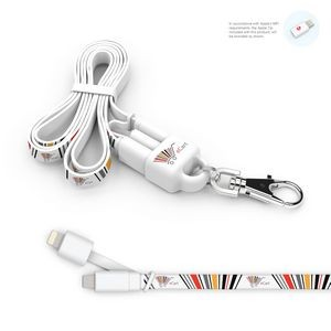 Lanyard 2-in-1 Lanyard and Micro USB Charging Cable w/ Apple Lightning Tip