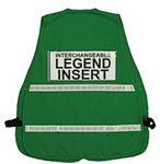Custom Dark green incident command vest, clear card holders, 1