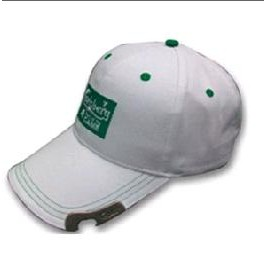 Baseball Cap w/Bottle Opener Visor