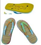 Custom EVA & Natural Straw Beach Flip Flops Sandal