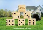 Custom Giant Custom Branded Lawn Dice 6 Piece Game