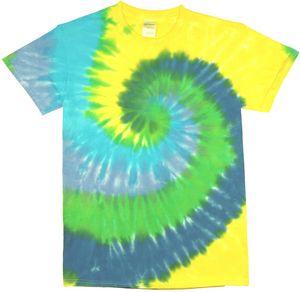 Custom Bright Green Spiral Short Sleeve T-Shirt