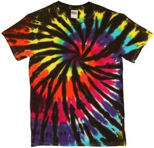 Custom Black Rainbow Web Short Sleeve T-Shirt