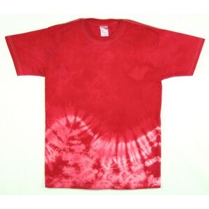 Red Bottom Wave Short Sleeve T-Shirt