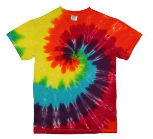 Custom Classic Rainbow Spiral Short Sleeve T-Shirt