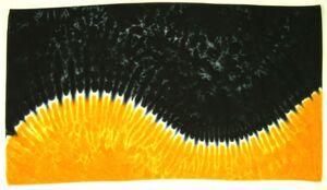 Custom Black/Gold Wave Beach Towel