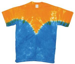 Custom Gold/Royal Team Vee Short Sleeve T-Shirt