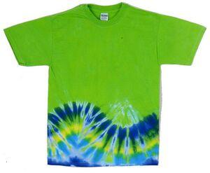 Custom Bright Green Bottom Wave Short Sleeve T-Shirt