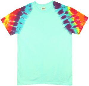 Custom Robin's Egg Rainbow Zig Zag Short Sleeve T-Shirt