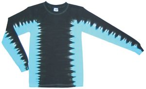 Custom Black/Turquoise Team Side Stripe Long Sleeve T-Shirt