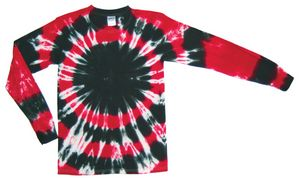 Custom Black/Red Team Sphere Long Sleeve T-Shirt